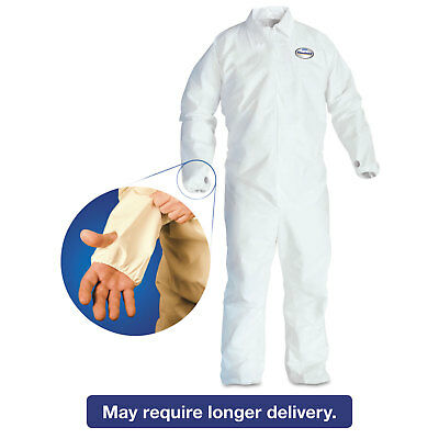 KIMBERLY CLARK A40 Breathable Back Coverall with Thumb Hole White/Blue 2X-Large