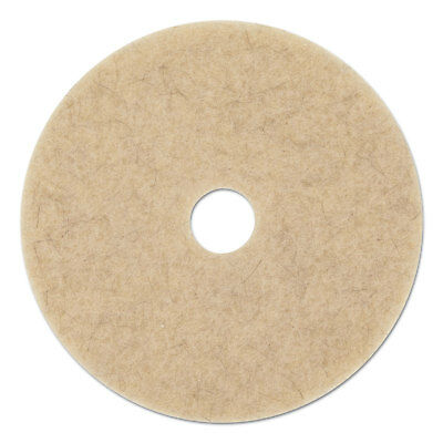 "Boardwalk Ultra High-Speed Floor Pads 19"" Diameter Natural Hair Tan 5/Carton"