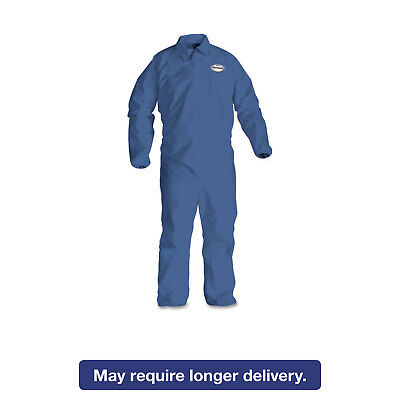 KleenGuard* A60 Elastic-Cuff & Back Coveralls Blue Large 24/Case 45003