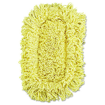 Rubbermaid Commercial Trapper Looped-End Dust Mop Head 12 x 5 Yellow 12/Carton