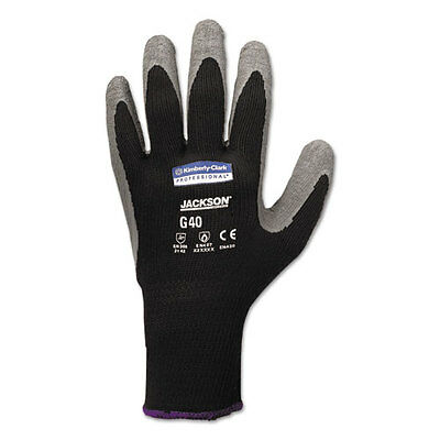 KleenGuard G40 Latex Coated Gloves 11X-Large Poly/Cotton Grey/Black 12 Pairs