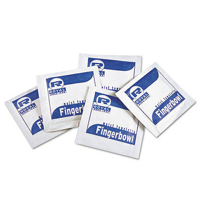 Royal Paper Moist Towelettes Lemon Scented Individually Wrapped 1000/Carton