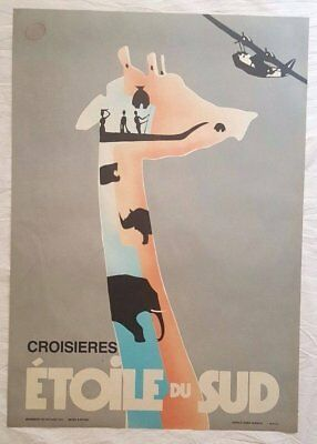 Lot of 10 Vintage French African Travel 'Etoile de Sud' Posters