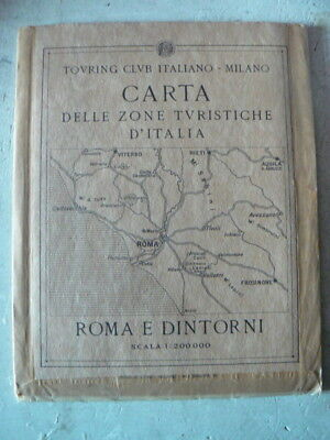 Touring Club Italiano - Carta Zone Turistiche - Roma e dintorni