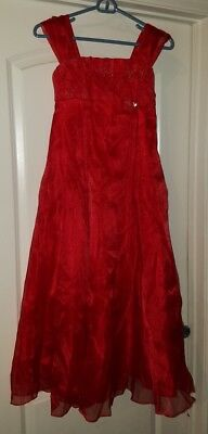 Joykids Joy Kids Girls red dress size 12