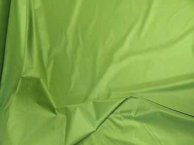 """5 Mtrs 64""""  Wide Lime Green Non Ripstop Waterproof Windproof Pertex  Fabric"""