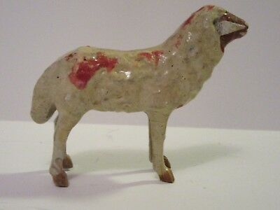 Antique German Composition Lamb Sheep Ears Painted Details