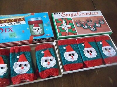 vtg Santa coasters, 2 boxes, never used