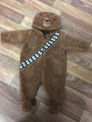 Star Wars Chewbacca Baby Pramsuit Up To 3 Months 0-3 VGC All In One
