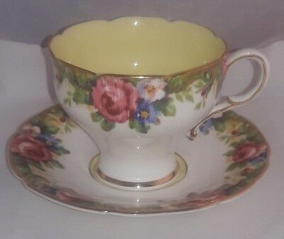 Paragon Tea Cup & Saucer Tapestry Rose Floral Vintage England China