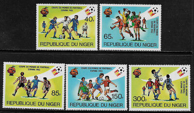 Niger #557-61 Mint Never Hinged Set - World Cup Soccer