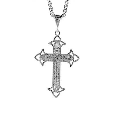 Sterling Silver Cross Pendant, 2 1/16 inch tall
