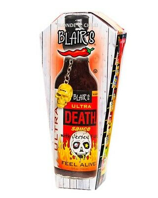 BLAIR'S ULTRA DEATH SAUCE! Blairs Hot Chilli BBQ GHOST SPICY (worlds hottest)