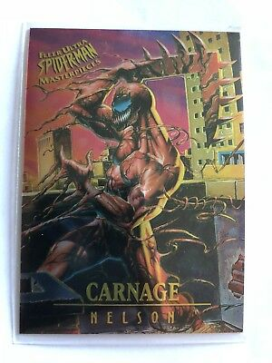 Spider-Man Fleer Ultra 1995 Masterpieces Limited Edition Marvel Card #2 Carnage
