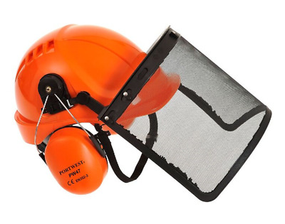 Portwest PW98 Forestry Combi Kit Safety (Hard Hat Mesh Visor Clip On Ear Muffs)