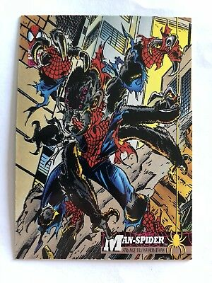 Spider-Man Fleer Marvel Card #22 Man Spider