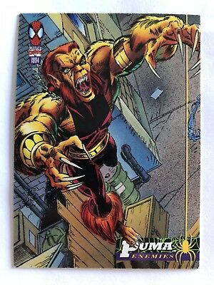 Spider-Man Fleer Marvel Card #31 Puma