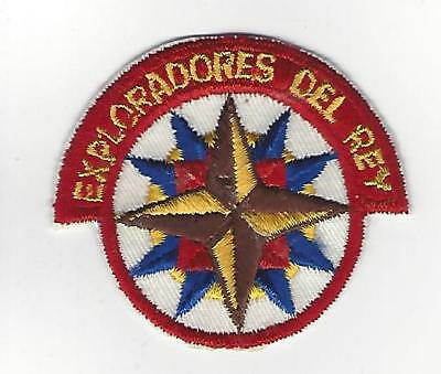 """Exploradores Del Rey 1.5"""" original CUT EDGE patch from the 50s?  (Hat Patch?)"""
