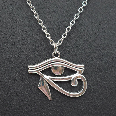 Retro Silver Eye of Horus Necklace Ancient Egypt Egyptian Jewelry Charm Pendant