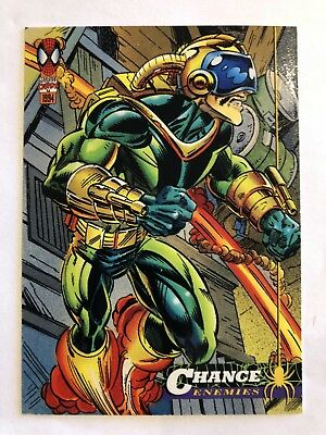 Spider-Man Fleer Marvel Card #34 Chance