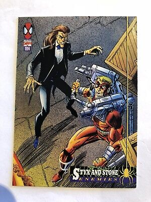 Spider-Man Fleer Marvel Card #35 Styx & Stone