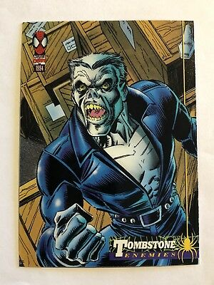 Spider-Man Fleer Marvel Card #36 Tombstone