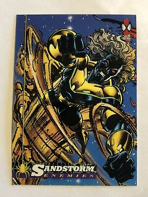 Spider-Man Fleer Marvel Card #37 Sandstorm