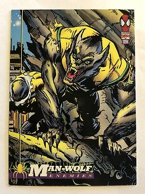 Spider-Man Fleer Marvel Card #42 Man-wolf