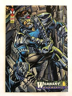 Spider-Man Fleer Marvel Card #43 Warrant