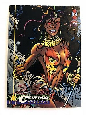 Spider-Man Fleer Marvel Card #45 Calypso