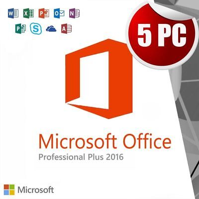 MS Office 2016 Professional Plus Retail Key 5 PC Install New Features