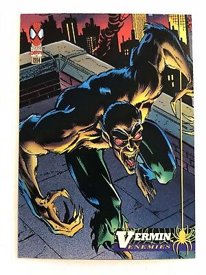Spider-Man Fleer Marvel Card #50 Vermin