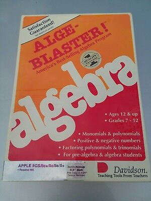 Vintage Apple 2 Alge-blaster Algebra game factory sealed