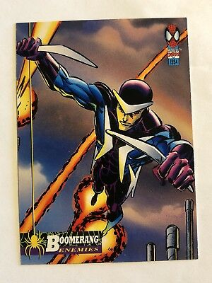 Spider-Man Fleer Marvel Card #57 Boomerang