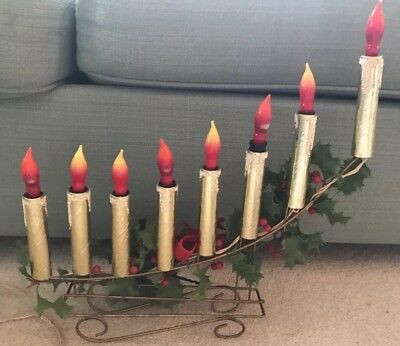Vintage Christmas Candelabra 8 Candles Candolier Mirostar