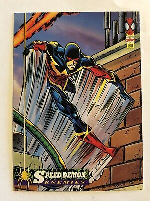 Spider-Man Fleer Marvel Card #60 Speed Demon