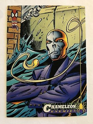 Spider-Man Fleer Marvel Card #63 Chameleon