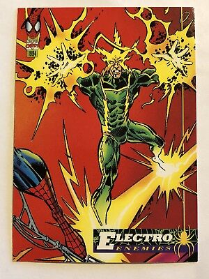 Spider-Man Fleer Marvel Card #69 Electro