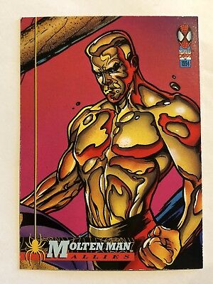Spider-Man Fleer Marvel Card #77 Molten Man