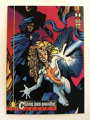 Spider-Man Fleer Marvel Card #78 Cloak-n-dagger