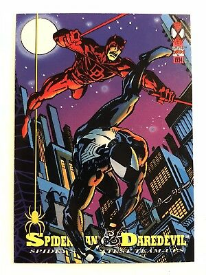 Spider-Man Fleer Marvel Greatest Team-ups Card #83 Daredevil