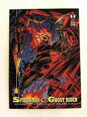 Spider-Man Fleer Marvel Greatest Team-ups Card #87 Ghost Rider