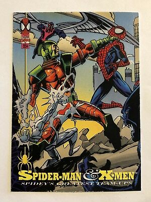 Spider-Man Fleer Marvel Greatest Team-ups Card #88 The X-men