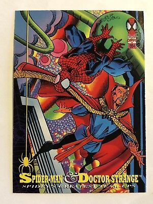 Spider-Man Fleer Marvel Greatest Team-ups Card #91 Dr. Strange