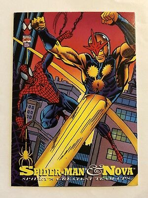 Spider-Man Fleer Marvel Greatest Team-ups Card #94 Nova