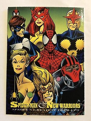 Spider-Man Fleer Marvel Greatest Team-ups Card #95 New Warriors
