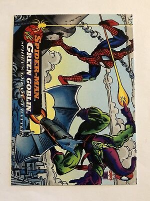 Spider-Man Fleer Marvel Greatest Team-ups Card #100 Green Goblin