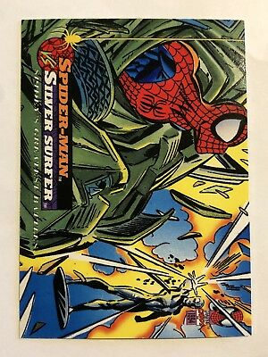 Spider-Man Fleer Marvel Greatest Team-ups Card #104 Silver Surfer