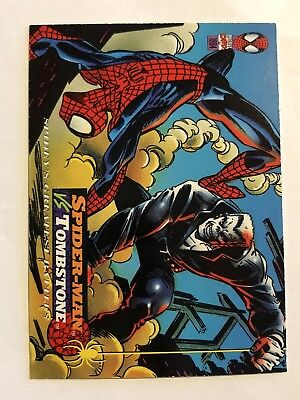 Spider-Man Fleer Marvel Greatest Team-ups Card #105 Tombstone