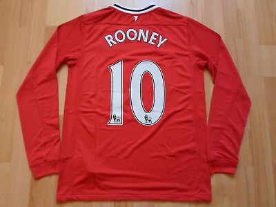 Manchester United 2011 2012 #10 ROONEY Nike Home Shirt Jersey AON Football